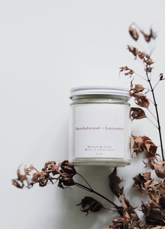Sandalwood + Lavender candle