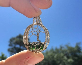Tourmaline tree of life wire wrap