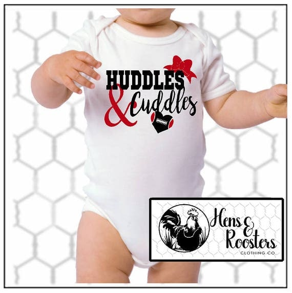 Huddles & Cuddles Football Baby Creeper / Romper / Bodysuit (R4400) #1332