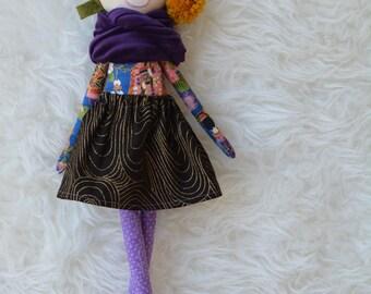 Isumi - Handmade cloth doll, rag doll, heirloom doll