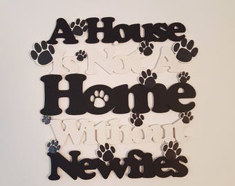 Newfoundland Dog, Newfoundland Gifts, Newfoundland Decor, Dog Lover gifts, Dog Home Decor, Gifts for Dog Owners, Dog Birthday Gift, Dog Sign