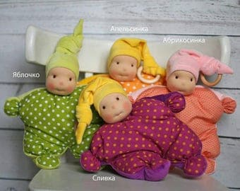 Funny Waldorf Dolls for babies. Choose the one you like! Handmade waldorf doll for sleeping. First doll. Comforter doll. Gift for child.