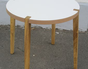 Table with wooden legs