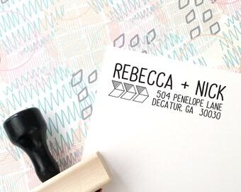 Custom Address Stamp, Return Address Stamp, Self-Inking Stamp, Arrow Stamp, Rubber Stamp, Wedding Invitation Stamp, Save the Date Stamp