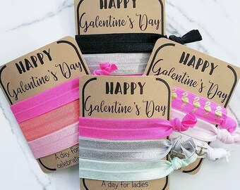 Happy Galentine's Day, Hair Ties, hair tie favor, Ladies night out, Girls just want to have fun, Women empowerment, Girlfriends, Galentine's