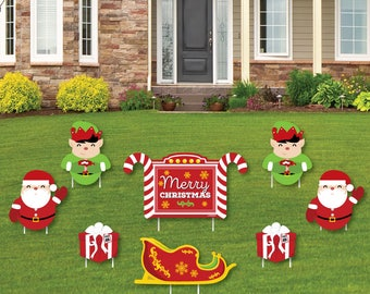 Jolly Santa Claus Shaped Lawn Decorations   Outdoor Yard Decorations    Merry Christmas Lawn Ornaments