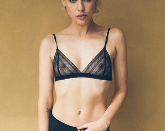 Matilda French Lace Black Bralette
