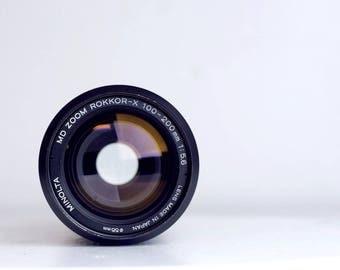 Minolta Rokkor-X SR (Mc/Md) Mount 100-200mm f/5.6 Zoom Lens