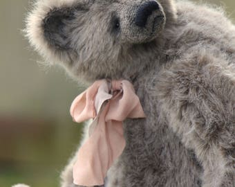 RESERVED! Fluffy joy   47 cm   animals-stuffed- bear-interior toy-personalized teddy bear mohair- ooak-authors teddy bear