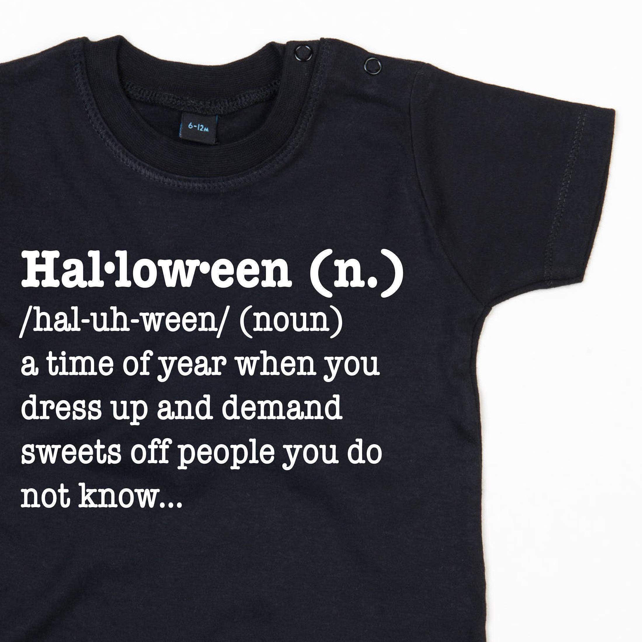Halloween Definition T Shirt|Halloween T Shirt|Halloween Shirt ...