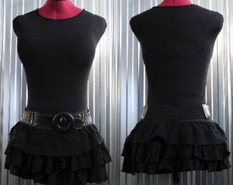 Short Skirt with elastic at waist-Recycled-