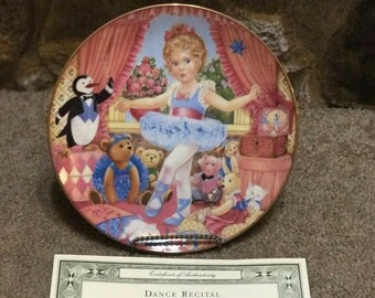 "Collector Plate ""Dance Recital"" by Carol Lawson 1992 with COA and Box"