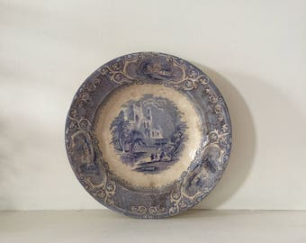 Antique Blue Transferware Bowl