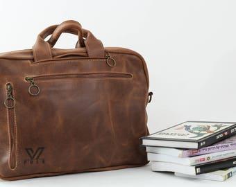 Brown Backpack, Leather Backpack, Laptop Bag, Shoulder Bag, Convertible Bag, Macbook Bag, Leather Bag, Crossbody Leather Bag, Unisex Bag
