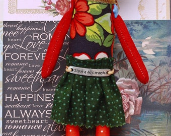 Frida doll measurement 24cm cotton and fleece hair. READY TO SHIP