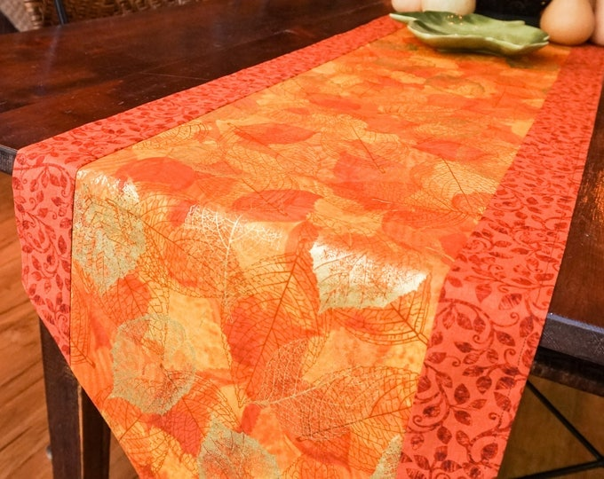 Fall Decor-Fall Table Runner-Autumn Decor-Thanksgiving Tableware-Metallic Gold-Gift
