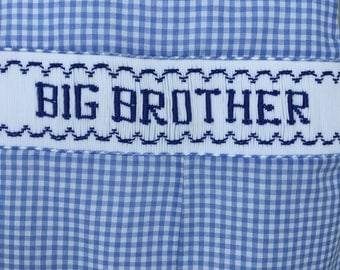 Big Brother Shortall/Hand-Smocked