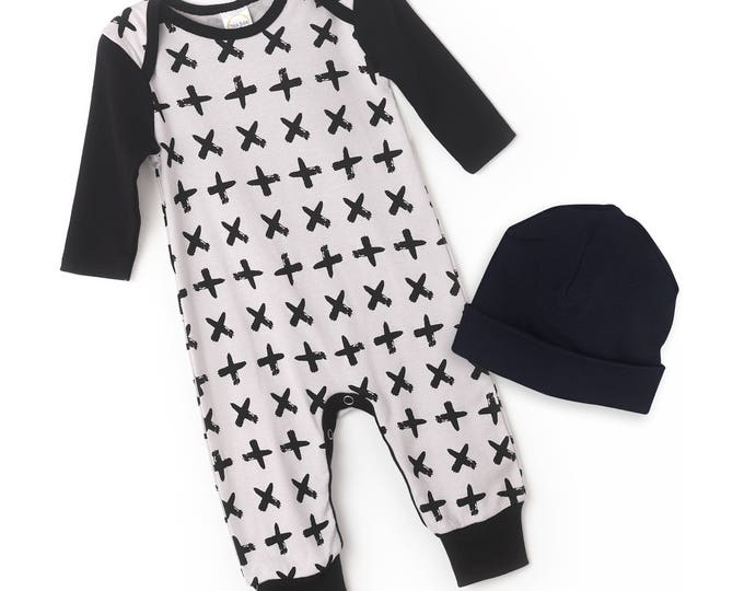 Newborn Boy Coming Home Outfit, Newborn Boy Black Grey Bodysuit, Baby Boy Take Home, Newborn Boy Minimalist Romper Tesababe