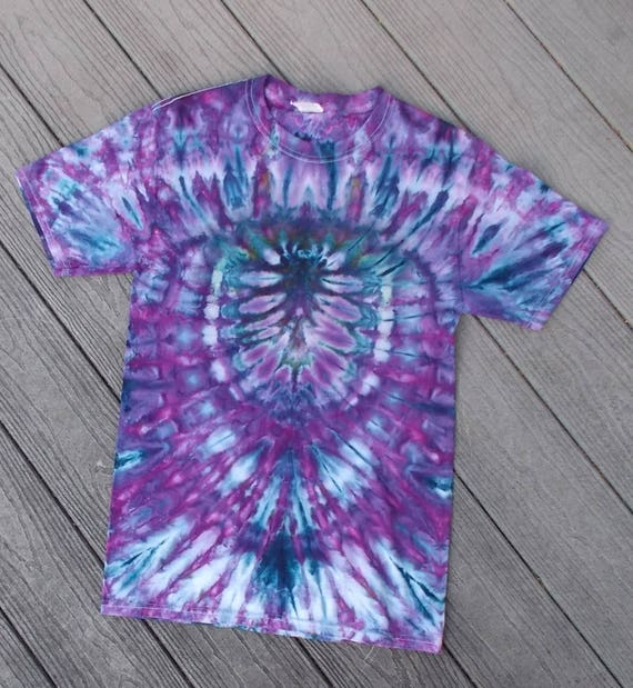 Ice-Dyed Tie Dyed spider Tshirt, Small