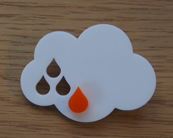 Sweet rain drop cloud brooch