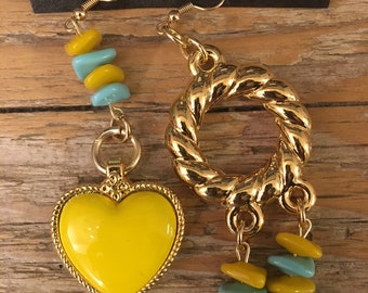 Heart and turquoise Earrings