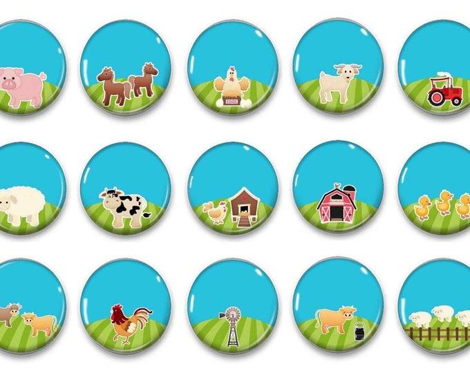 Reward Chart - Farm Reward Chart Magnets- Preschool Activity - Potty Training - Bedtime Routine - Fine Motor Skills - Play Mat Set