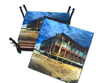 Convention Hall Asbury Park New Jersey Ceramic Tile Drink Coaster(s) / Historical Asbury Park / Sold in Set of 4 or Individually