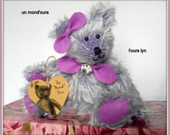 Bear collection Lyn in purple mohair by a world ' bear