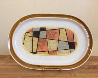 Vintage Noritake Primastone Sundance 8302 Oval Serving Platter Stoneware 1970s