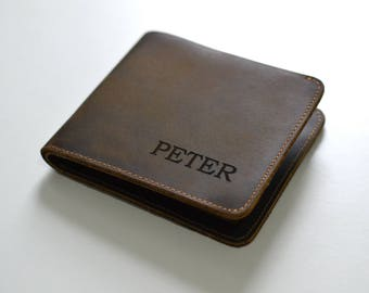 Genuine Leather Wallet - Can Be Personalised - Gift For Him