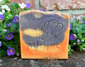 LAVENDER ORANGE Shea Butter/Buttermilk Soap, Handmade Soap, Cold Process Soap, Moisturizing