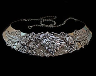 Stark of Winterfell - Necklace - Wolf - Arya - Sansa - Winter is Coming  - Game of Thrones - Medieval Fantasy - Torc - Jon Snow - Jewelry