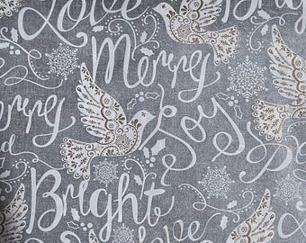 """Merry & Bright Dove Christmas Tissue Paper #907 .. 10 large sheets ...20"""" x 30"""""""