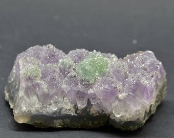 Druzy Purple and Green Amethyst - AMEDG3