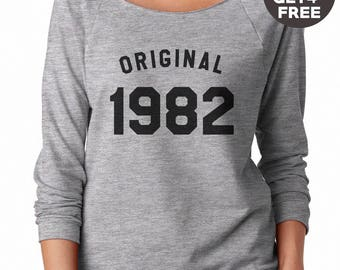 36th birthday gift sweatshirt hipster tees birthday shirt 1982 sweater ladies sweatshirt women gifts men sweatshirt funny graphic sweatshirt