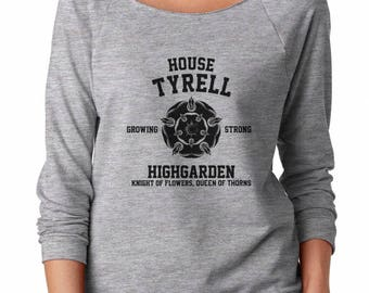 House Tyrell Tshirt Game of Thrones Tee Shirt Ladies Gifts Women Fashion Shirt Ladies Women Shirt Off Shoulder Sweatshirt Women Sweatshirt