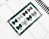 Ambitious // Bows (Glossy Planner Stickers)