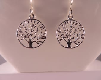 925 Sterling Silver Tree of Life earrings. Sterling Silver Earrings