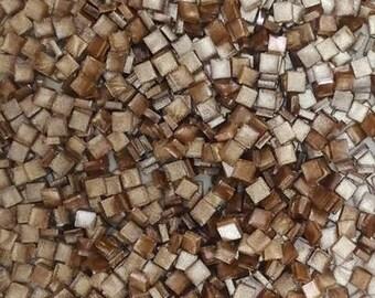 Resin mosaic tiles, 5x5 mm, Metallic effect, Champagne Beige