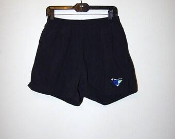 90's CHAMPION SWIM TRUNKS black shorts size