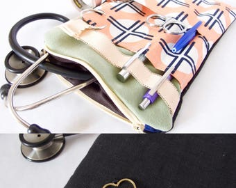 Stethoscope Pouch. Nurse Gift. Medical Assistant Gift. Physician Assistant. EMT Gift. Vet Tech Gift.Medical Student Gift.Nurse Organizer. RN