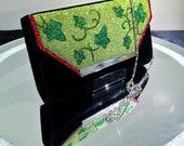 Poison Ivy Inspired Glitter Handbag Clutch