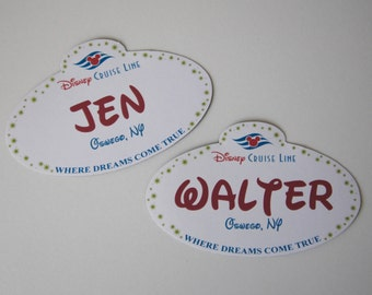 Disney Cruise Line - Castmember Name Tag Door Magnets