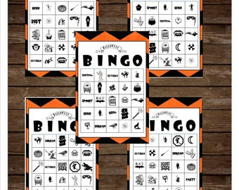 30 printable halloween bingo cards halloween games halloween party bingo games for - Free Printable Halloween Bingo Game Cards