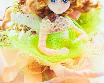 fairy garden magic gift playroom decor christmas ornament curly long hair little doll dancer gift fairy decoration figurines hanging doll