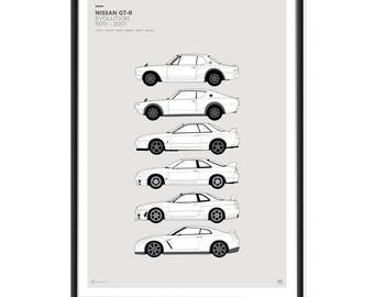 Nissan Skyline GT-R Generations Poster