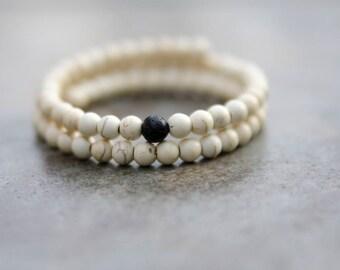 Distressed Antique White Aromatherapy Bracelet