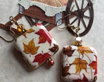 Fall Earrings, Fall Leaf Earrings, Fall Jewelry, Autumn Jewelry, Leaf Earrings, Jewelry, Gift For Her