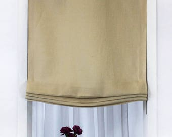 Dandelion Linen Relaxed Roman Shades