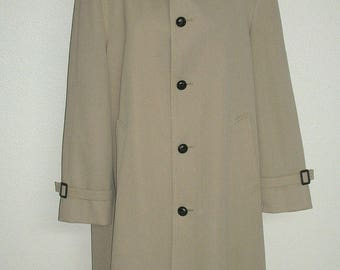 Men's Vintage John Weitz Wool Lined All Weather Trench Coat 40 L